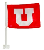 University of Utah Car Flag
