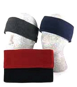 Fleece Reversible Headband, Black
