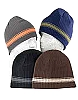 Boy's Striped Beanie, Assorted Colors