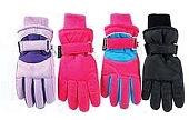 Girl's Taslon Ski Glove, Size 7-14, Assorted Colors