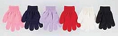Children's Solid Color Magic Stretch Gloves, Assorted Colors s/b 12 pair