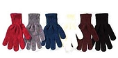 Solid Color Chenille Stretch Gloves, Black