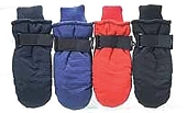 Children's Taslon Ski Mittens, Sizes 4-7, Assorted Colors