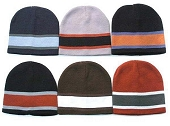 Big Stripe Beanie, Assorted Colors