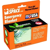 SPACE Brand Emergency Blanket, Silver/Silver