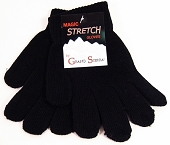 Solid Color Magic Gloves, Black
