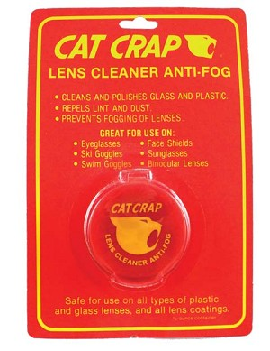 Cat Crap Lens Cleaner and Anti-Fog Cream, carded