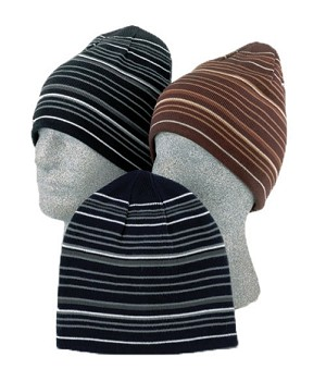 Men's Stripe Reversible Beanie