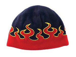 "Kid's ""Flame"" Beanie, Assorted Colors"