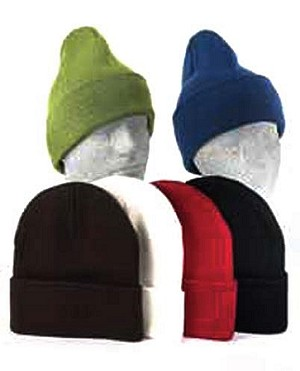 Women's Acrylic Stretch Cuff Hat, Assorted Colors