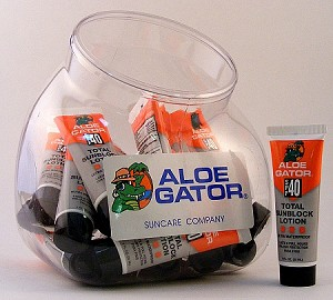 Aloe Gator SPF 40 Sunscreen Lotion,  1 oz tube, 24 count fishbowl