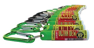 ULTRA DEW Potent Cherry & Icy Lemon Lip Balm with Carabiner Clip, 36 count fishbowl