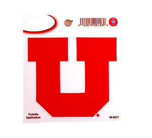 "Utah Utes Window Decal | Large ""U"", 9""x10"""